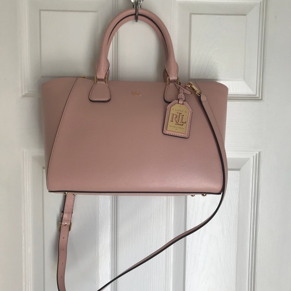 Lauren Ralph Lauren Handbags - Ralph Lauren Pink Pastel Lowell Stefanie  Satchel c95777e0376ab